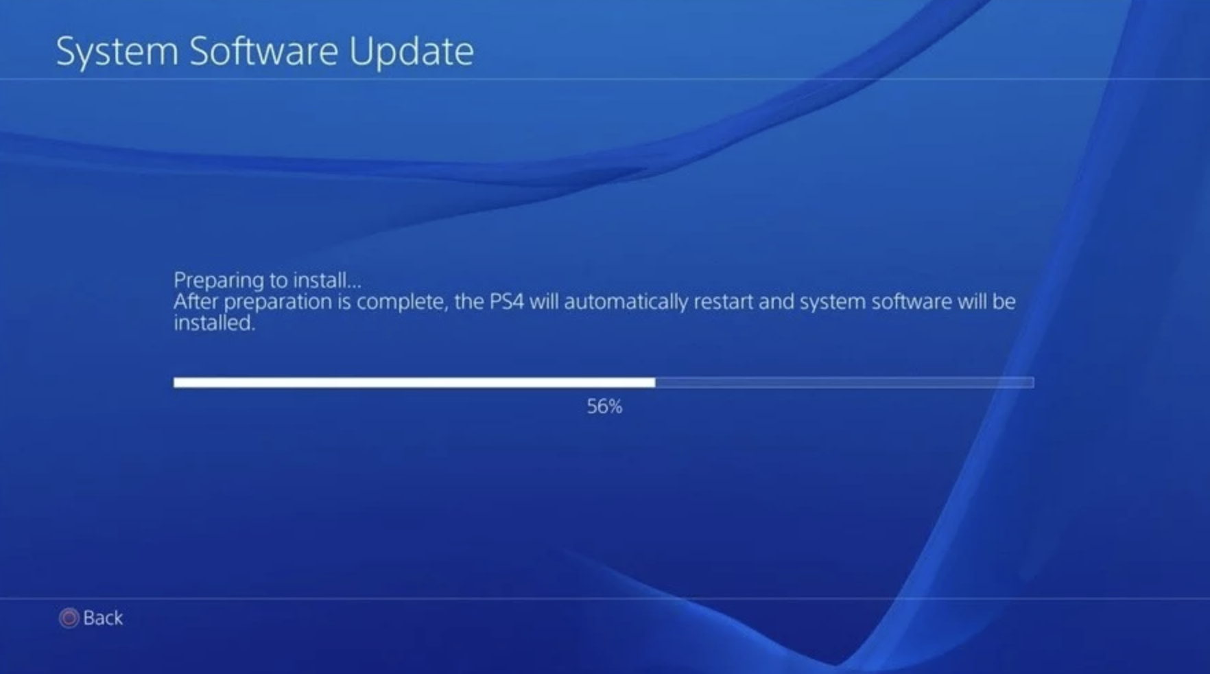 Playstation 4 firmware software