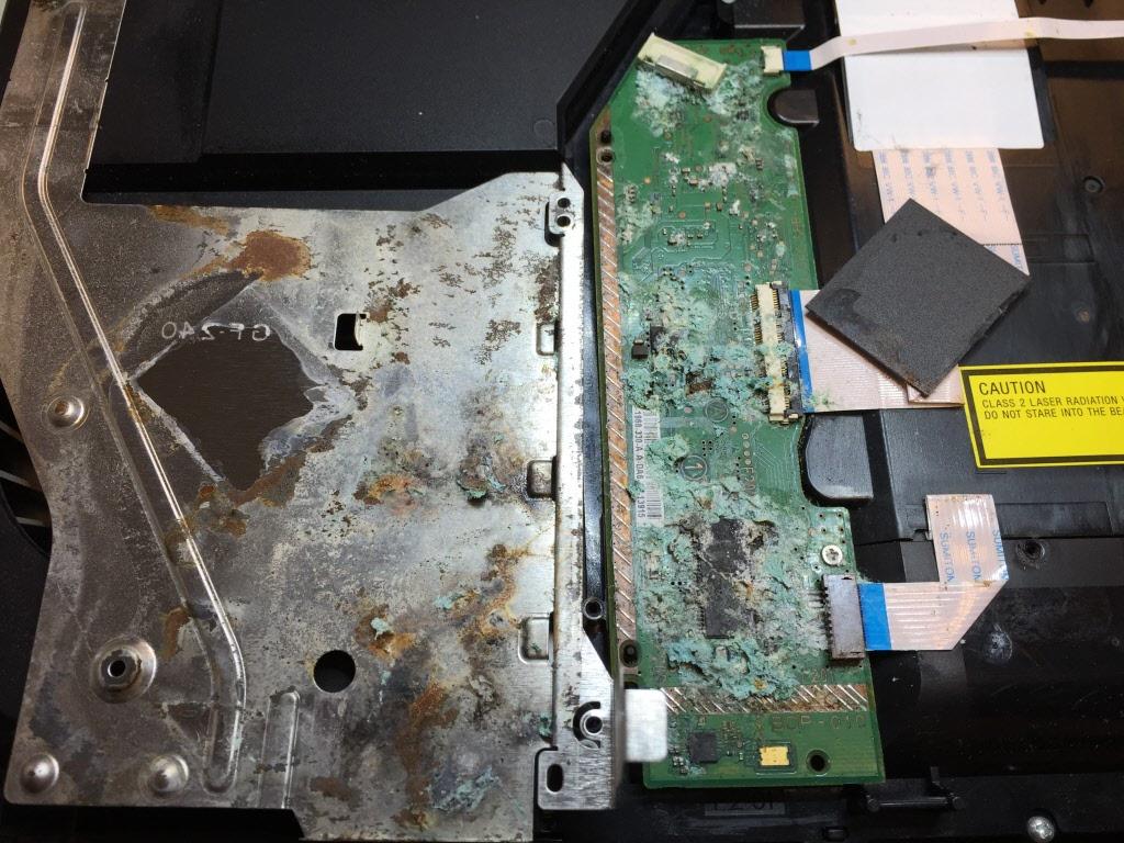 Playstation 4 vochtschade
